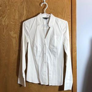 A X Armani Exchange White Dress Shirt